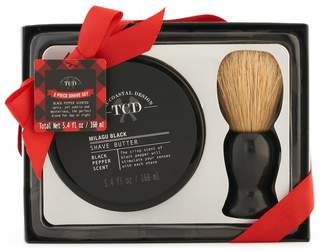 Tricoastal Design Tri Coastal Design Tri-Coastal Design Men's Milgau Black Shave Butter & Brush Set