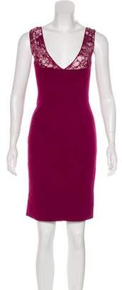 Emilio Pucci Lace-Trimmed Sleeveless Dress