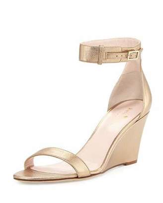 Kate Spade New York Ronia Naked Wedge Sandal, Quartz $298 thestylecure.com