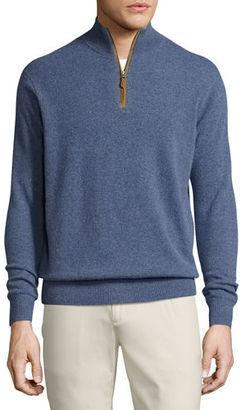 Peter Millar Artisan Cashmere Quarter-Zip Sweater $548 thestylecure.com