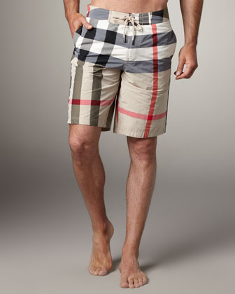 Burberry Check Boardshorts, New Classic