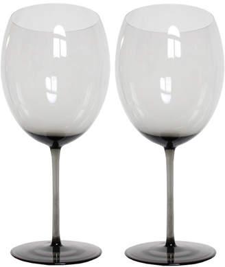 "Martinka Crystalware Smoke Colored Red Wine Glasses ""Dusk To Dawn"" (Set of 2)"