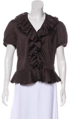 Lauren Ralph Lauren Polka Dot Short Sleeve Top w/ Tags