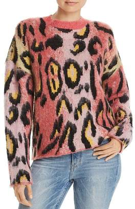 Aqua Brushed Leopard Print Sweater - 100% Exclusive