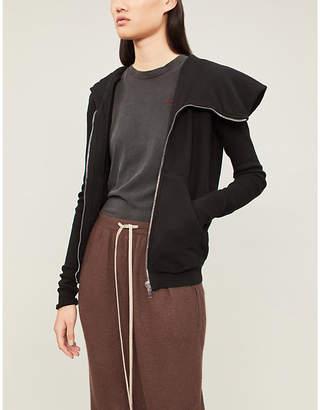 Drkshdw Asymmetric-neck cotton-jersey hoody