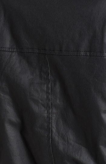 Bebe Faux Fur Trim Coated Cotton Anorak