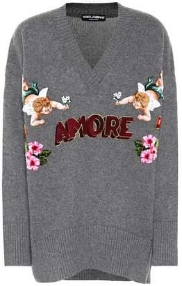 Dolce & Gabbana Appliqué cashmere sweater