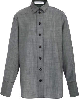 Victoria Beckham Oversized Wool-Twill Shirt
