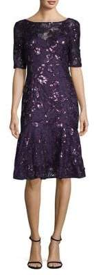 Adrianna Papell Sequin Embellished Sheath Dress