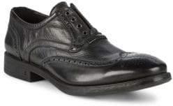 John Varvatos Bleecker Laceless Leather Wing-Tip Oxfords