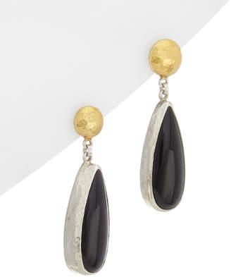 Gurhan Galapagos Silver Gemstone Drop Earrings