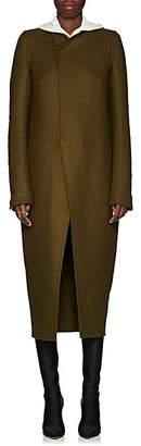 Rick Owens Women's Tusk Wool-Blend Collarless Coat - Dirty Green