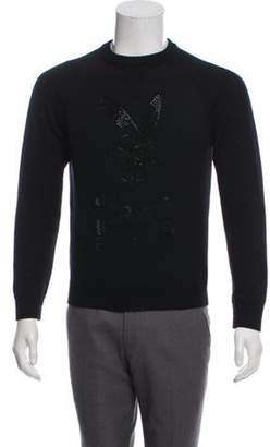 Philipp Plein Wool Embellished Sweater black Wool Embellished Sweater