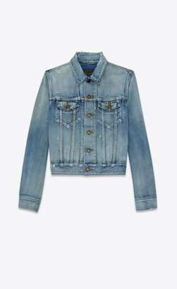 Saint Laurent Destroyed Denim Jacket