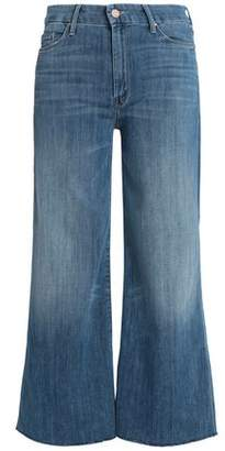 Mother Cropped High-Rise Flared Jeans