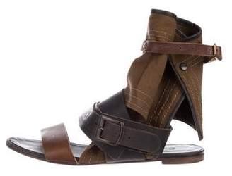 Chloé Suede Flat Sandals