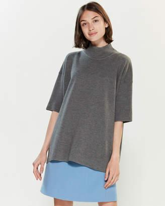 Roberto Collina Mock Neck Short Sleeve Sweater
