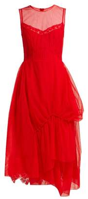 Simone Rocha Lace Embellished Tulle Dress - Womens - Red