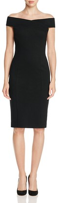 Three Dots Off-The-Shoulder Sheath Dress $178 thestylecure.com