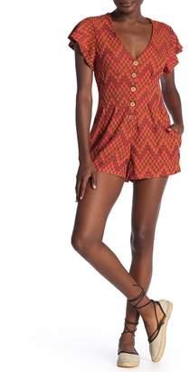Free People Phoenix Short Sleeve Knit Romper