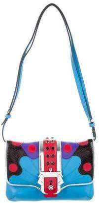 Paula Cademartori Leather Embellished Shoulder Bag