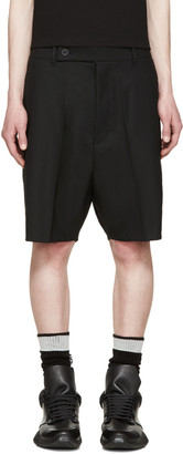 Rick Owens Black Easy Astaires Shorts $720 thestylecure.com