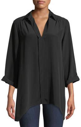 Go Silk Dolman-Sleeve Silk Easy Tunic