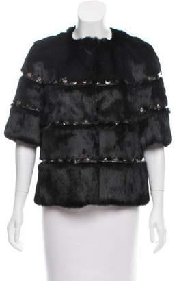 Glamour Puss Glamourpuss Studded Fur Jacket w/ Tags