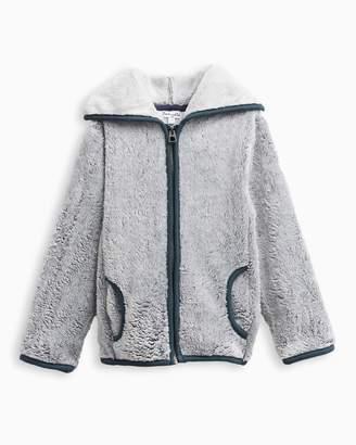 Splendid Little Boy Fur Hoodie Jacket