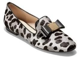 Cole Haan Tali Leopard Print Calf Hair Flats
