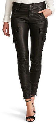 Polo Ralph Lauren Leather Cargo Skinny Pant $1,298 thestylecure.com
