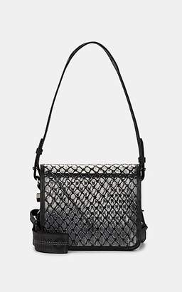 Off-White Women's Binder-Clip Small Leather-Trimmed Crossbody Bag - Black
