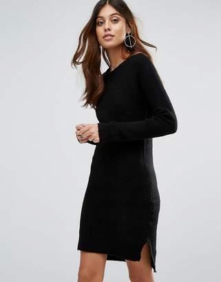 Brave Soul Jupiter V Neck Sweater Dress