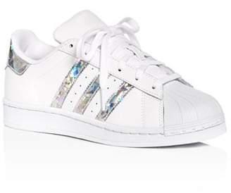 adidas Unisex Superstar Leather Low-Top Sneakers - Big Kid