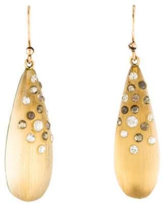 Alexis Bittar Lucite & Crystal Teardrop Earrings gold Lucite & Crystal Teardrop Earrings