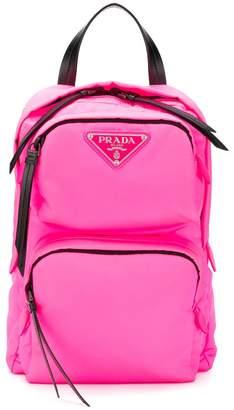Prada one shoulder padded backpack