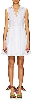 Barneys New York Women's Cotton Eyelet A-Line Shirtdress - White