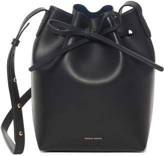 Mansur Gavriel Black Mini Bucket Bag - Blu