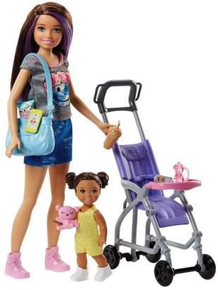 Mattel Barbie(R) Babysitters Doll & Stroller Playset