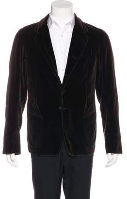 Dolce & Gabbana Velvet Button-Up Jacket