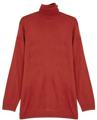 Acne Studios Orange Merino Wool Jumper
