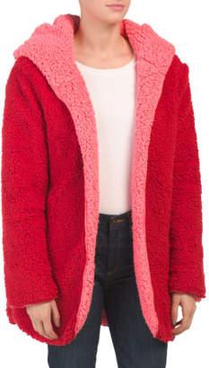Juniors Australian Designed Reversible Teddy Coat