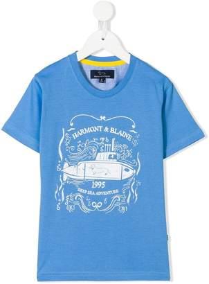 Harmont & Blaine Junior logo print T-shirt