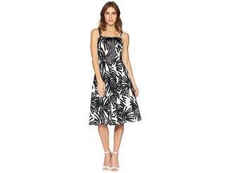 Taylor Lace-Up Bodice Fit and Flare Dress Women's Dress