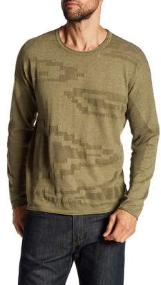 Quinn Blown Up Muscle Pattern Instarsia Crew Neck Sweater