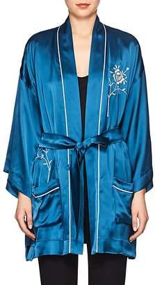 Giada Forte Women's Embroidered Satin Robe Jacket