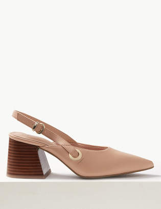 Marks and Spencer Statement Heel Pointed Slingback Shoes