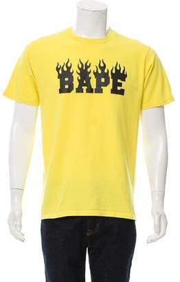 A Bathing Ape Woven Crew Neck T-Shirt