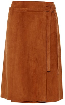 STOULS Athea suede wrap skirt