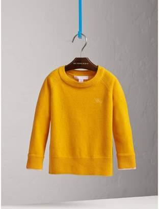 Burberry Check Cuff Cashmere Sweater